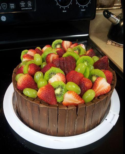 Chocolate Fruit & Kit Kat Cake