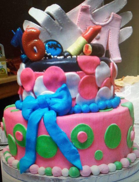 Whimsical Sweet 16 Cake