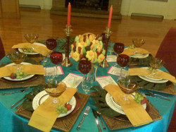 Tropical Themed Tablescape