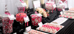Black, White & Pink Candy Table