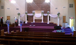 Wedding Swag & Columns