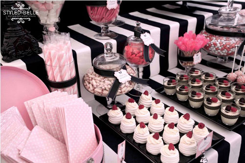 Pink and Black Sweet Treat's Display