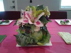 Green Cabbage Centerpiece
