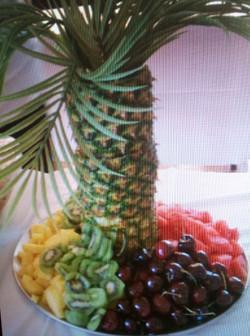 Palm Tree Fruit Display