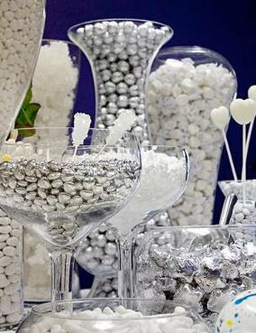 Silver and White Candy Bar