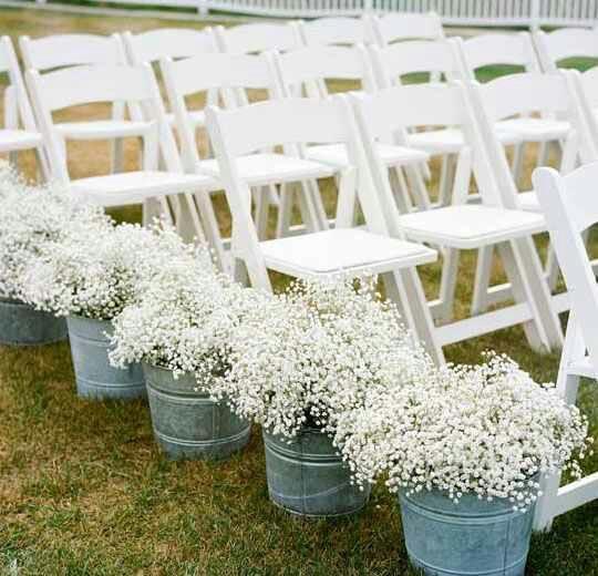 Back Yard Wedding - Aisle Markers