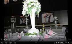 All White Wedding Reception