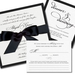 Elegant B&W Wedding Invite