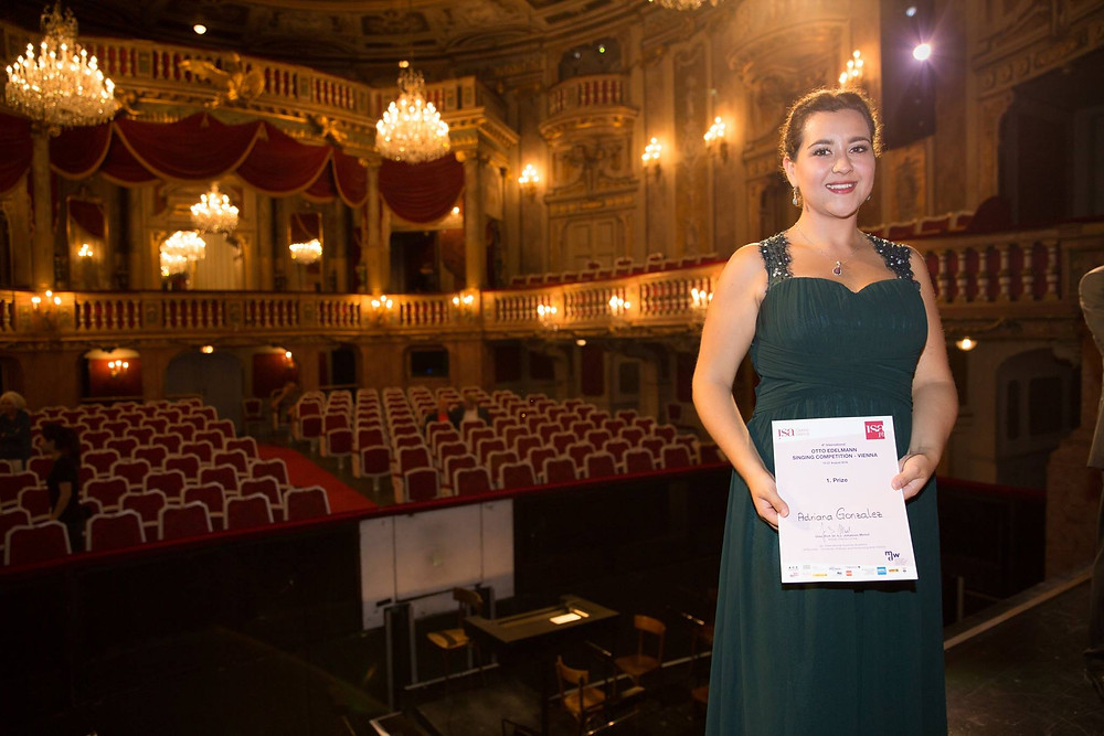 Adriana Gonzalez First Prize Winner of Otto Edelmann Singing Competition - Vienna 2016