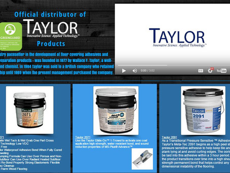 We are now an authorized distributor of W.F. Taylor products