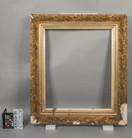 Damaged ornate, gold-gilded frame conservation