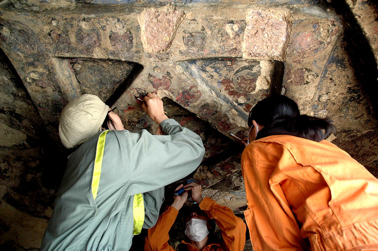 Archaeological Conservators At Work