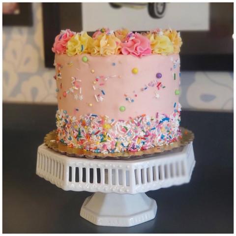 Pink Funfetti Cake