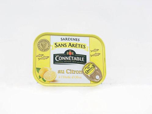 Sardientjes zonder graat, met citroen en olijfolie