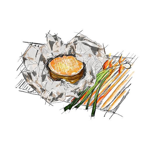 """Voor de Grill """"La Sanglée Des Couardis"""""""