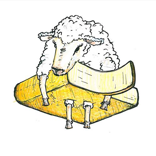 Raclette van schaap