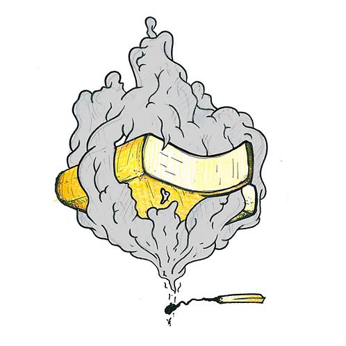 Raclette gerookt