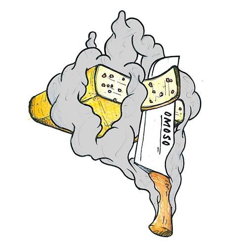 Raclette gerookt spek