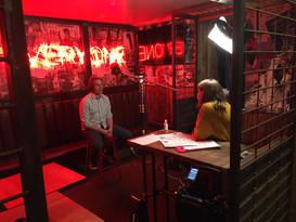 Interviewing Chris at Bloc+, Glasgow