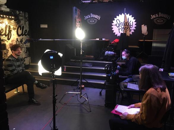 Interviewing Nick Stewart at Sneaky Pete's, Edinburgh