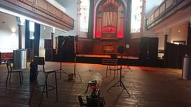 Our set-up at Saint Luke's, Glasgow