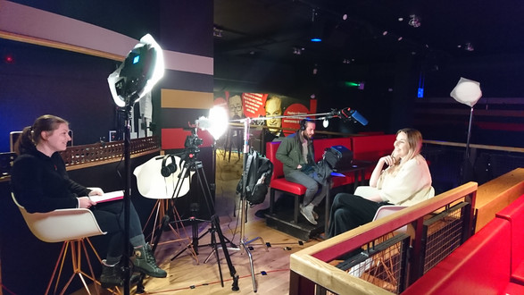 Interviewing Annabel Monkhouse at the Glee Club