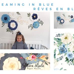 Dreaming in blue paper flowers Mara Lial