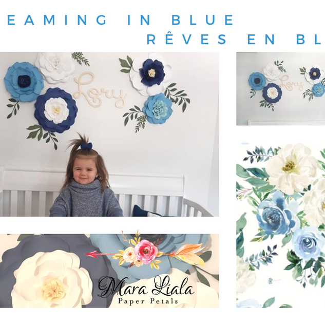 Dreaming in blue paper flowers Mara Lial