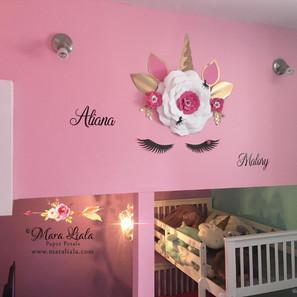 licorne fleurs en papier Mallory Aliana