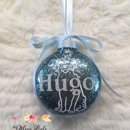 ornement noel chien nom Hugo Mara Liala