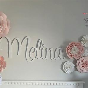 Melina set paper flowers fleurs en papie