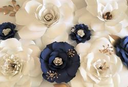 Mara Liala paper flowers Navy & white