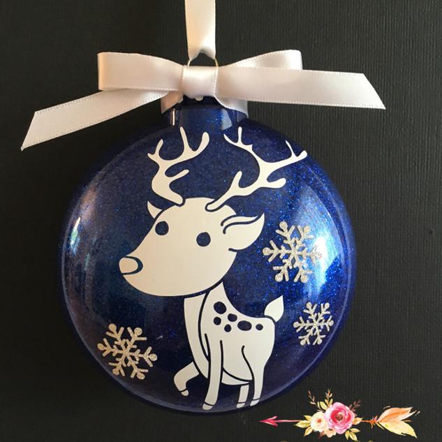 Blue deer xmas ornament Mara Liala Paper