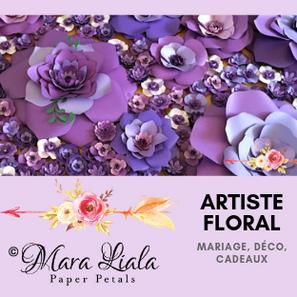 Artiste floral fleurs en papier mauve Ma
