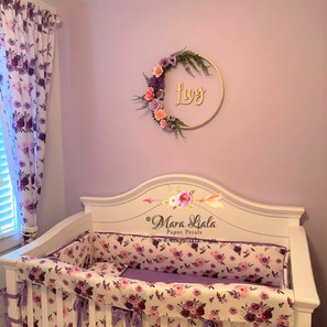 Livy fleurs en papier lilac mauve Mara L
