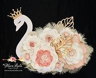cygne fleurs en papier Swan paper flower