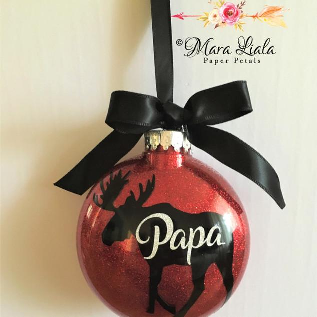 Papa xmas ornament Mara Liala paper peta