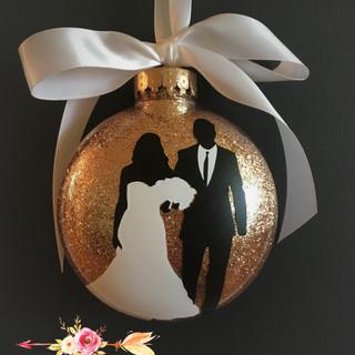 Bride and groom xmas ornament Mara Liala
