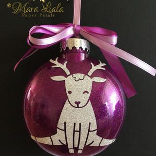 deer purple ornament Mara Liala paper pe