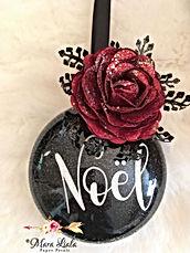 red rose ornament Mara Liala paper petal