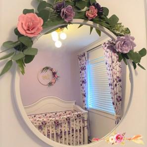 fleurs en papier mirroir Mara Liala Pape