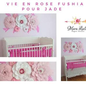 Fleurs en papier rose fushia  Mara Liala