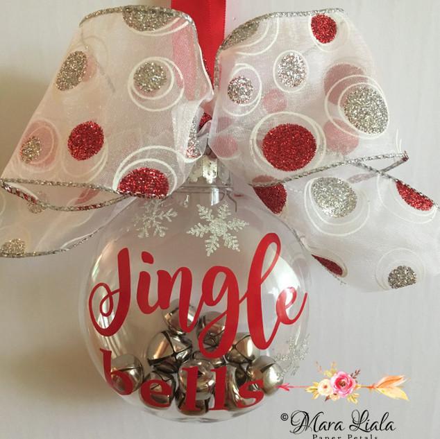 Jingle bells xmas ornament