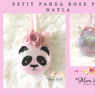 ornement de noel  N ayla panda rose Mara