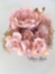 bouquet fleurs en papier blush pivoine r