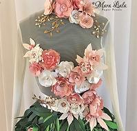 pink white paper flower dress Mara Liala