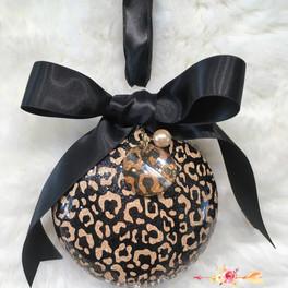 ornement noel cheetah et cristaux Swarov