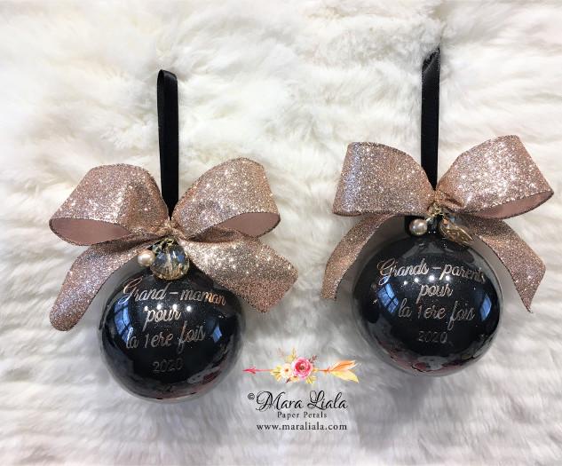 ornement noir et or cristaux Swarovski M