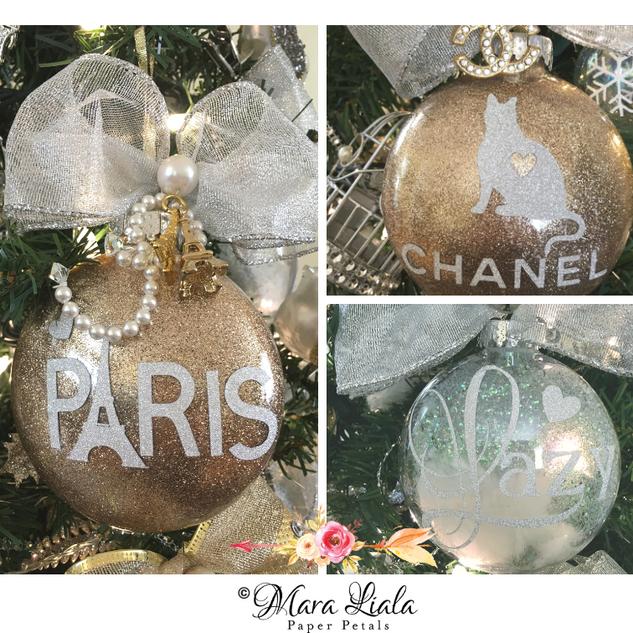boules de noel pour Chanel Paris Lazy.pn