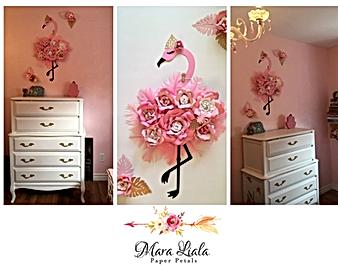 Pink Flamingo Mara Liala paper petals.pn